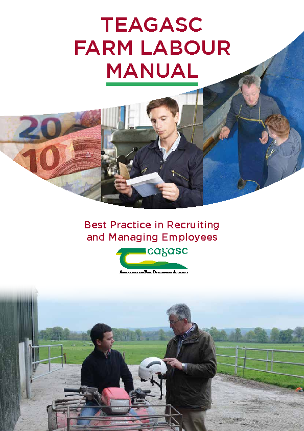Teagasc Farm Labour Manual Recruiting and Managing Employees front page preview