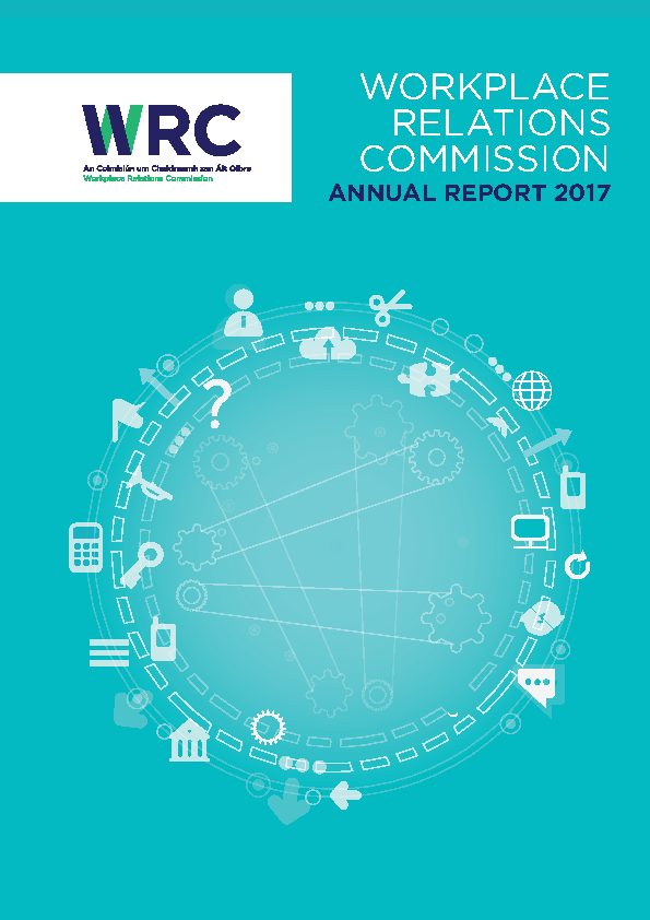 Workplace Relations Commission - Annual Report 2017 front page preview