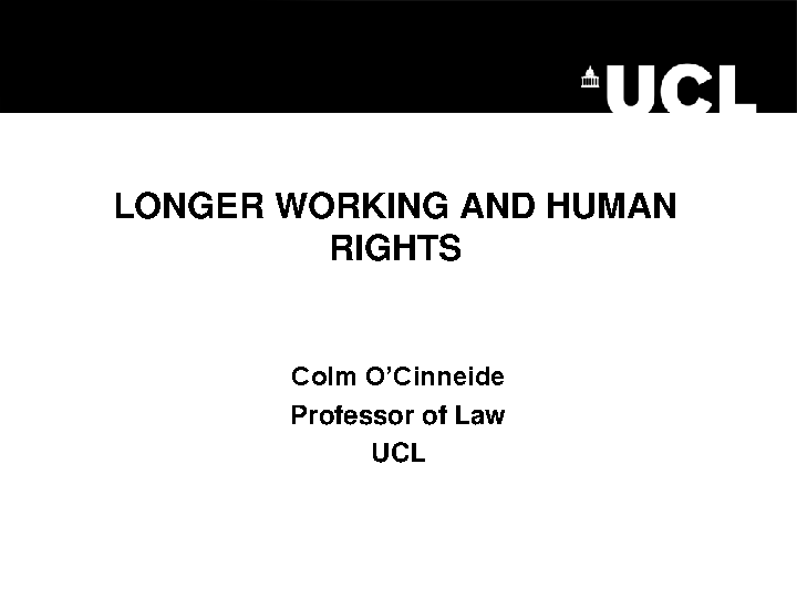 WRC Seminar - Longer Working and Human Rights - Prof. Colm O'Cinneide front page preview