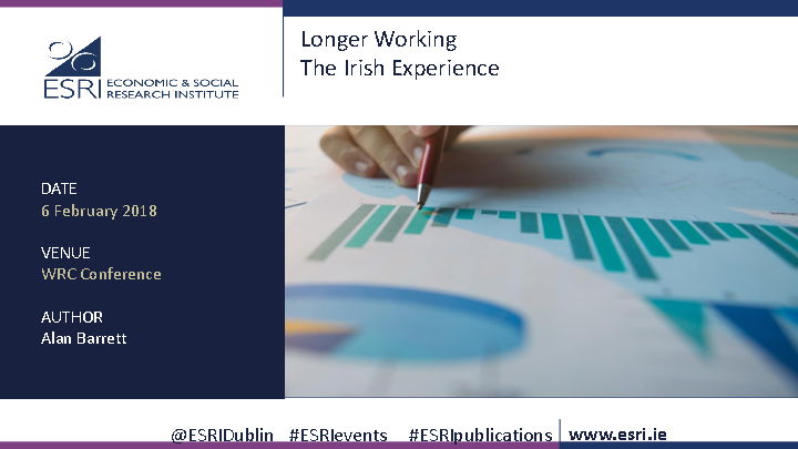 WRC Seminar - Longer Working The Irish Experience - Prof. Alan Barrett front page preview