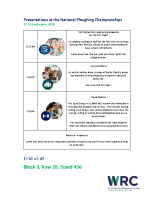 Presentation Timetable front page preview